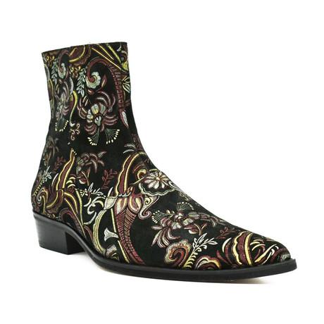 Sal Boot // Black + Burgundy (Euro: 38)