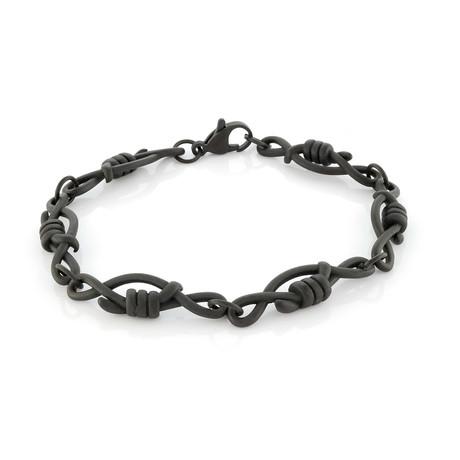 Barbed Wire Bracelet // Black (S)