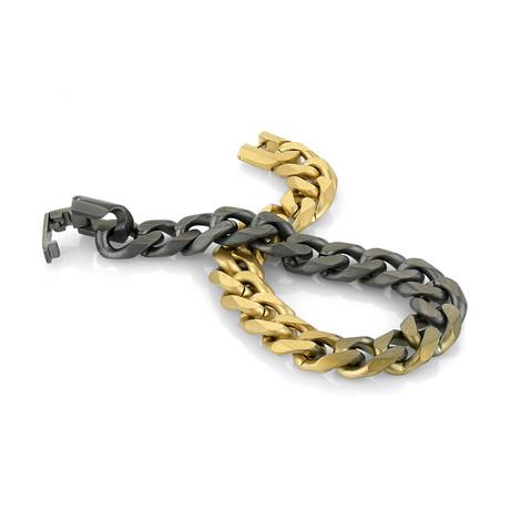 Cuban Link Color Gradient Bracelet // Multicolor