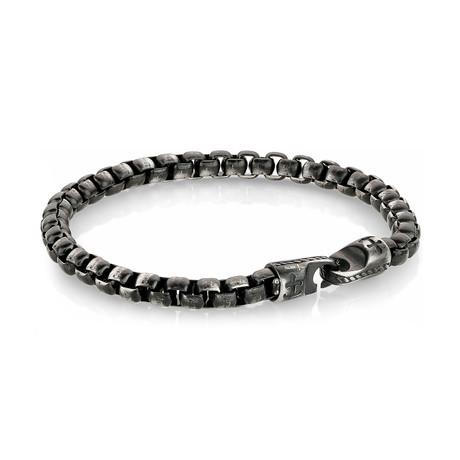 Anchor Clasp Bracelet // Gunmetal (S)