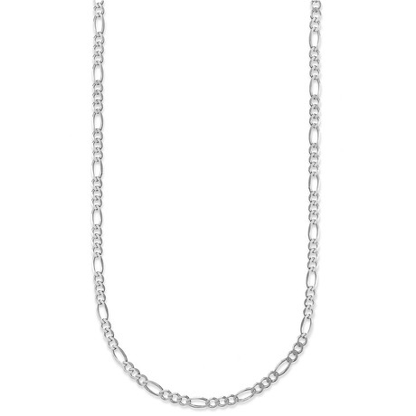 "Hollow 10K Gold Figaro Chain Necklace // 2.5mm // White (18"" // 1.2g)"