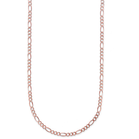 "Hollow 10K Gold Figaro Chain Necklace // 2.5mm // Rose (18"" // 1.2g)"