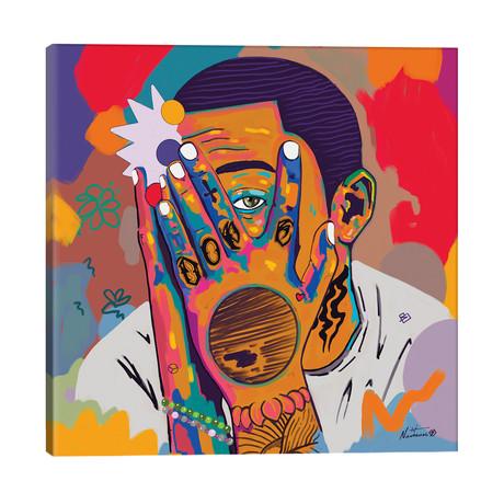 "Mac Miller // NUWARHOL™ (26""W x 26""H x 1.5""D)"