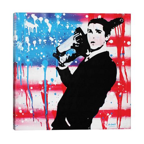 """American Psycho: Patrick Bateman // MR BABES (26""""W x 26""""H x 1.5""""D)"""