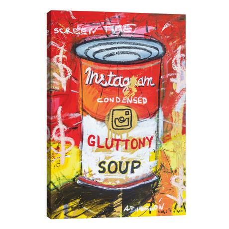"Gluttony Soup Preserves // Diego Tirigall (26""W x 40""H x 1.5""D)"