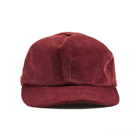 Corduroy Baseball Cap // Burgundy (Small)