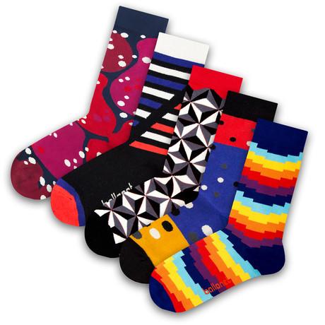 Unisex Socks // Prism Socks // 5 Pack (US: 6-9)