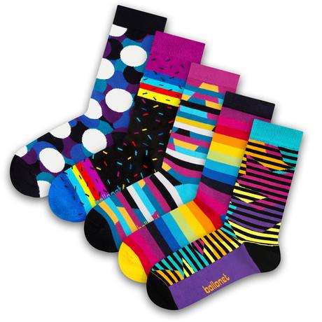 Unisex Socks // Rainbow Socks // 5 Pack