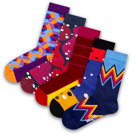 Unisex Socks // Lava Socks // 5 Pack (US: 6-9)