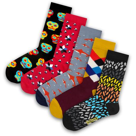 Men's Socks // Shark Socks // 5 Pack (US: 6-9)