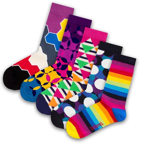 Unisex Socks // Spring Socks // 5 Pack (US: 6-9)