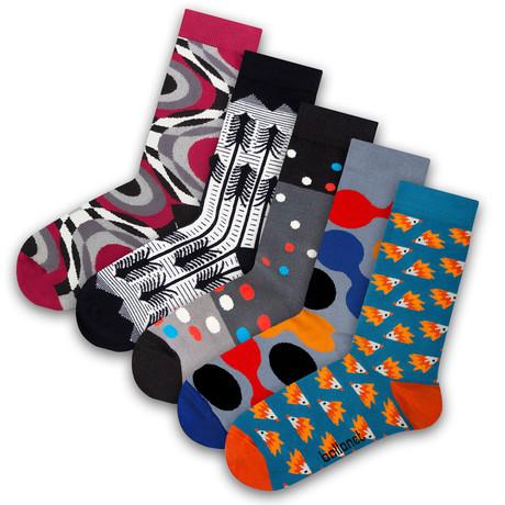 Unisex Socks // Liquid Socks // 5 Pack (US: 6-9)