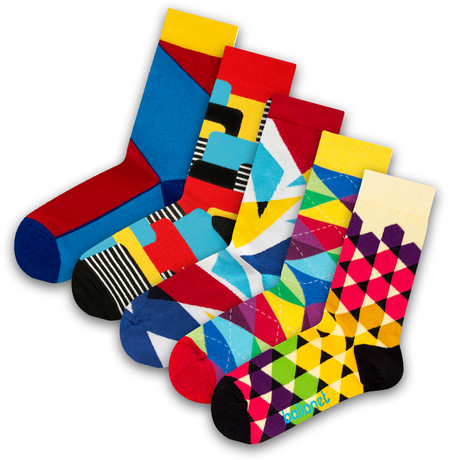 Unisex Socks // Cheer Socks // 5 Pack (US: 6-9)