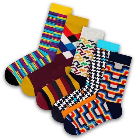 Unisex Socks // Retro Socks // 5 Pack