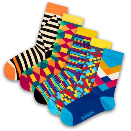 Unisex Socks // Optic Socks // 5 Pack (US: 6-9)