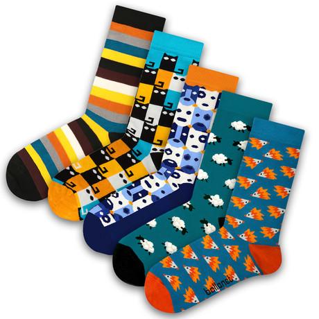 Unisex Socks // Bobo Socks // 5 Pack (US: 6-9)