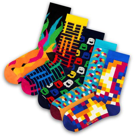 Unisex Socks // Ghost Socks // 5 Pack (US: 6-9)