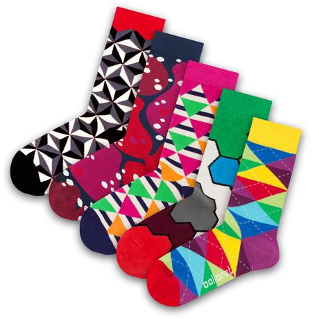 Unisex Socks // Argyle Socks // 5 Pack (US: 6-9)