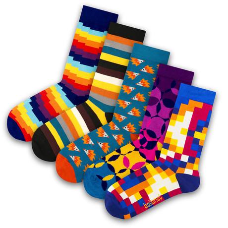 Unisex Socks // Pixel Socks // 5 Pack (US: 6-9)