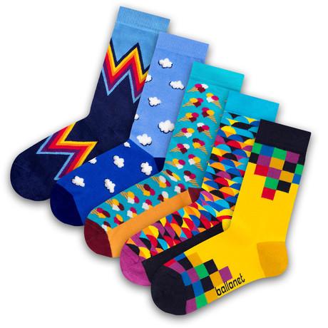 Unisex Socks // Gelato Socks // 5 Pack (US: 6-9)