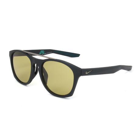 Men's Sunglasses // Matte Black + Amber