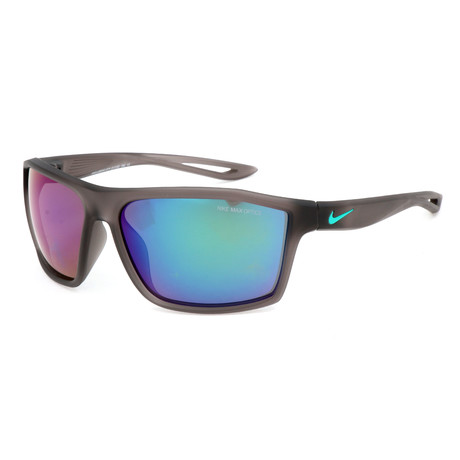 Men's Sunglasses // Gunsmoke + Multicolor Mirror
