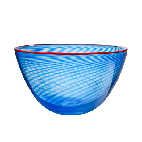 Red Rim Bowl // Blue