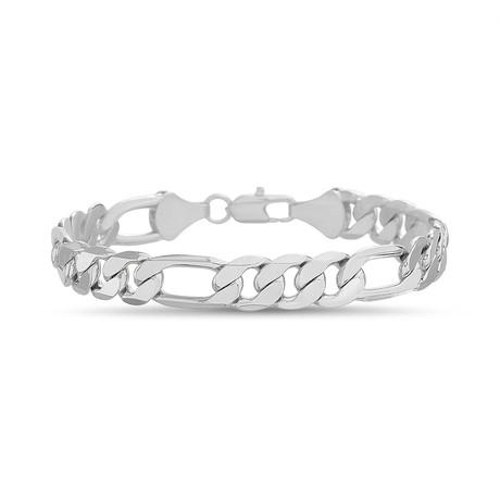 Figaro Chain Bracelet // White