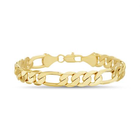 Figaro Chain Bracelet // Yellow