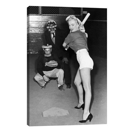Marilyn Monroe At The Plate In Black Heels // Radio Days