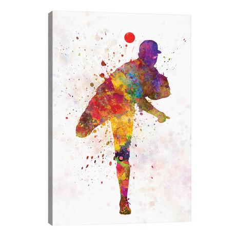 "Baseball Player Pitching II // Paul Rommer (26""W x 40""H x 1.5""D)"