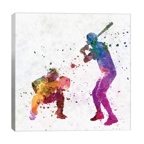 "Baseball Players I // Paul Rommer (26""W x 26""H x 1.5""D)"