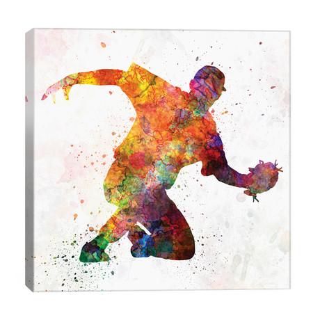 "Baseball Player Catching A Ball I // Paul Rommer (26""W x 26""H x 1.5""D)"