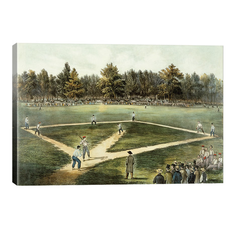 The American National Game Of Baseball - Grand Match At Elysian Fields, Hoboken, NJ, 1866 // Currier & Ives