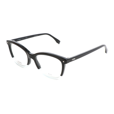 Women's 0234 7ZJ Optical Frames // Black + White