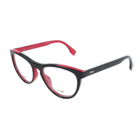 Women's 0123 MFQ Optical Frames // Black + Fuchsia