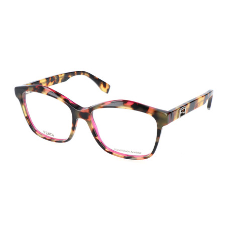 Women's 0093 D4Y Optical Frames // Havana + Fuchsia