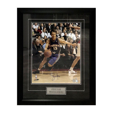 Steve Nash // Autographed Photo Display