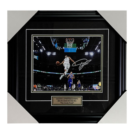 Giannis Antetokounmpo // Autographed Photo Display