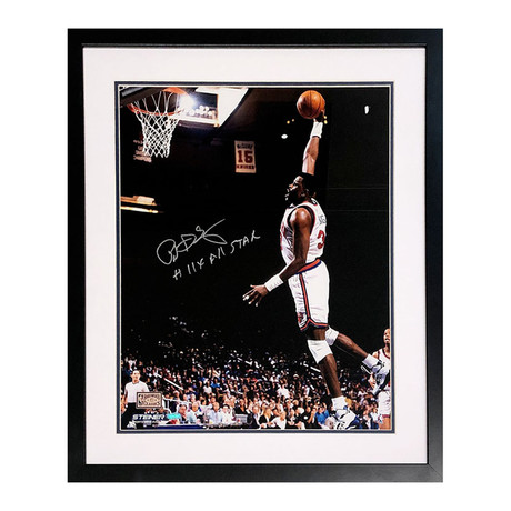 Patrick Ewing // Autographed Photo Display