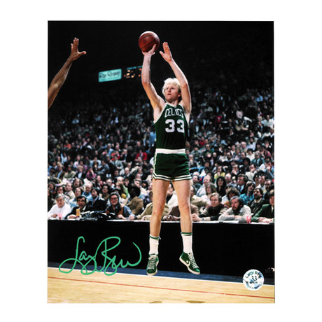 Larry Bird // Autographed Photo // Bird Holo