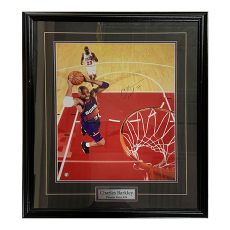 Charles Barkley // Autographed Photo Display