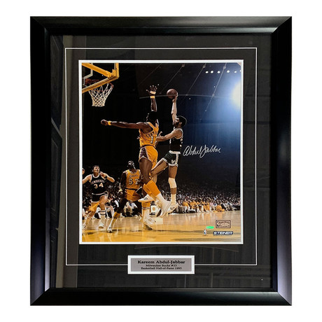 Kareem Abdul-Jabbar // Autographed Photo Display