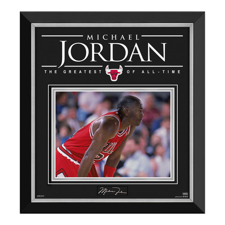 Michael Jordan // Limited Edition Photo Display // Facsimile Signature