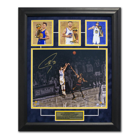 Stephen Curry // Autographed Photo Display