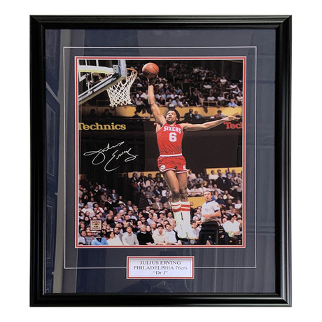 Julius Erving // Autographed Photo Display