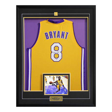 Kobe Bryant // Autographed Basketball Jersey Display