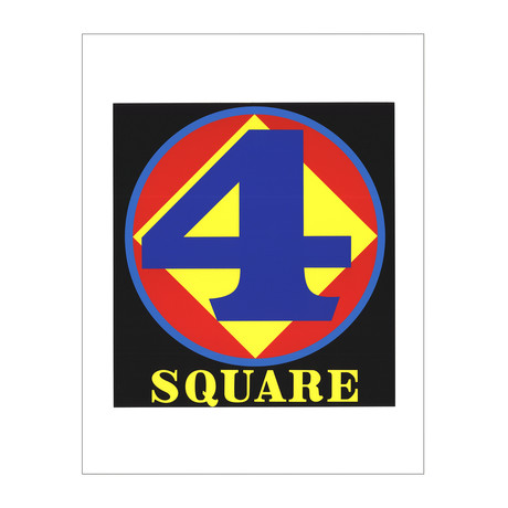 Polygon: Square (Number Four) // Robert Indiana // 1997 Serigraph