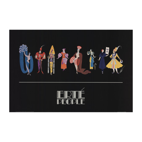 Fashion People // Erte // 1981 Offset Lithograph