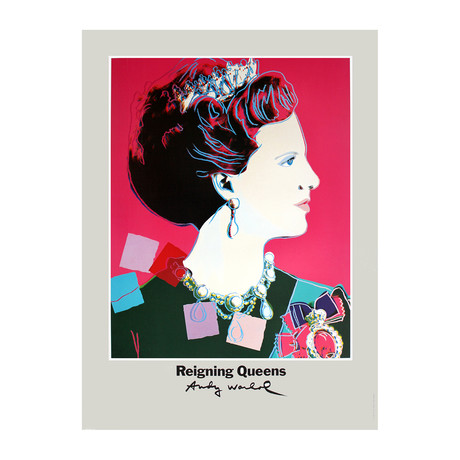 Queen Margrethe II of Denmark // Andy Warhol // 1986 Offset Lithograph